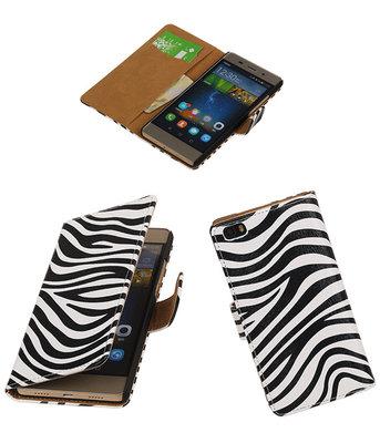 Huawei P8 Lite Zebra Booktype Wallet Hoesje