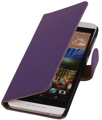 HTC Desire 320 Effen Booktype Wallet Hoesje Paars