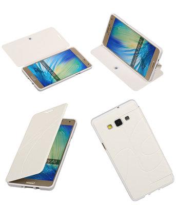 Bestcases Wit TPU Booktype Motief Hoesje voor Samsung Galaxy A7 2015