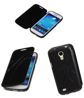 Bestcases Zwart TPU Booktype Motief Hoesje voor Samsung Galaxy S4 mini