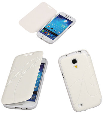 Bestcases Wit TPU Booktype Motief Hoesje Samsung Galaxy S4 mini