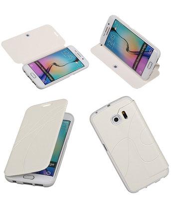 Bestcases Wit TPU Booktype Motief Hoesje voor Samsung Galaxy S6 Edge
