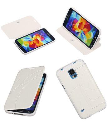 Bestcases Wit TPU Booktype Motief Hoesje voor Samsung Galaxy S5