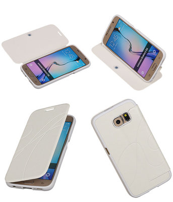 Bestcases Wit TPU Booktype Motief Hoesje Samsung Galaxy S6