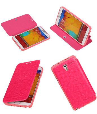 Bestcases Roze TPU Booktype Motief Hoesje voor Samsung Galaxy Note 3 Neo
