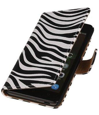 Hoesje voor Sony Xperia M4 Aqua Zebra Booktype Wallet
