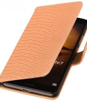 Hoesje voor Sony Xperia M4 Aqua Snake Booktype Wallet Roze