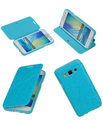 Bestcases Turquoise TPU Booktype Motief Hoesje voor Samsung Galaxy A3 2015