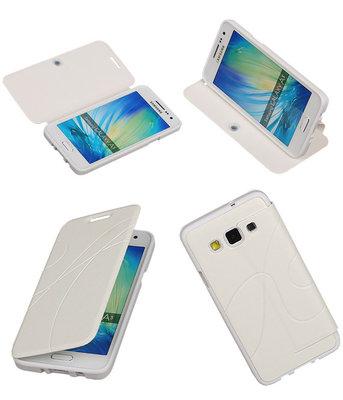 Bestcases Wit TPU Booktype Motief Hoesje voor Samsung Galaxy A3 2015