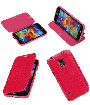 Bestcases Roze TPU Booktype Motief Hoesje voor Samsung Galaxy S5 mini