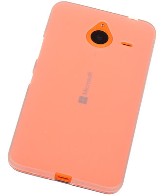 Hoesje voor Microsoft Lumia 640 XL TPU Transparant Wit