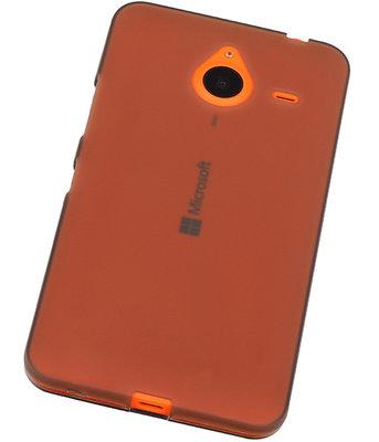 Hoesje voor Microsoft Lumia 640 XL TPU Transparant Grijs