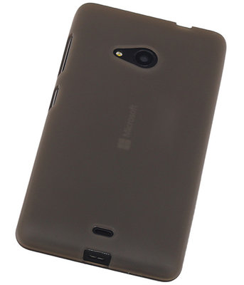 Microsoft Lumia 535 TPU Hoesje Transparant Grijs