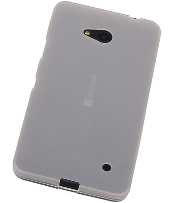 Hoesje voor Microsoft Lumia 640 TPU Transparant Wit