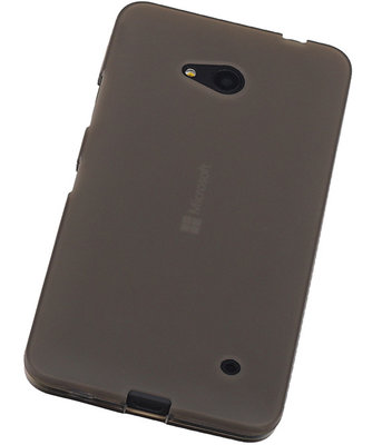 Hoesje voor Microsoft Lumia 640 TPU Transparant Grijs