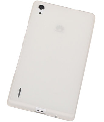 Hoesje voor Huawei Ascend P7 TPU Transparant Wit
