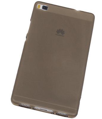 Hoesje voor Huawei P8 TPU Transparant Grijs