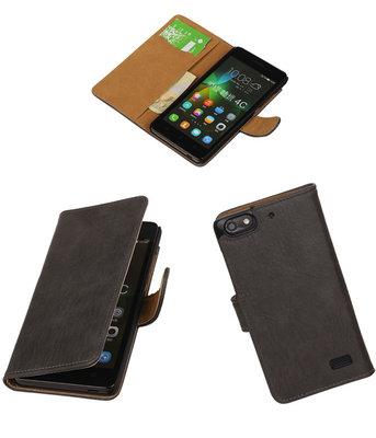 Hoesje voor Huawei Honor 4C Bark Booktype Wallet Grijs