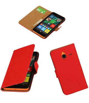 Hoesje voor Microsoft Lumia 640 XL Effen Booktype Wallet Rood