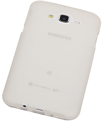 "Hoesje voor Samsung Galaxy J5 2015 TPU Transparant Wit â"" Back Case Bumper"