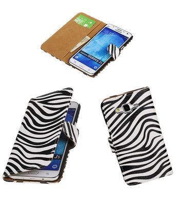Hoesje voor Samsung Galaxy J5 2015 Zebra Booktype Wallet