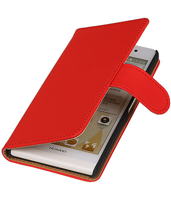 Hoesje voor Sony Xperia T3 Effen Booktype Wallet Rood