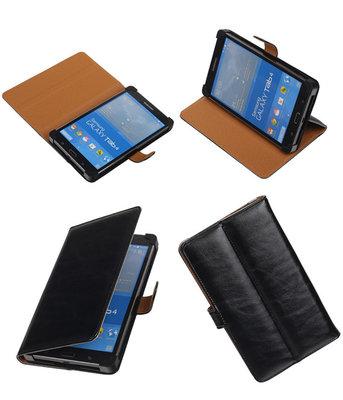 PU Leder Zwart Samsung Galaxy Tab 4 7.0 Stand Book/Wallet Case/Cover