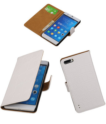 Croco Wit Honor 6 Plus Book/Wallet Case/Cover