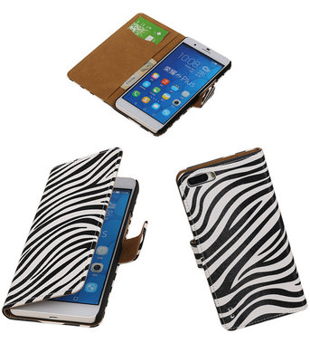 Huawei Honor 6 Plus Zebra Booktype Wallet Hoesje