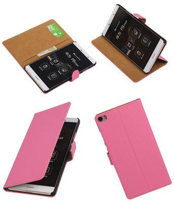 Hoesje voor Huawei P8 Max Effen Booktype Wallet Roze