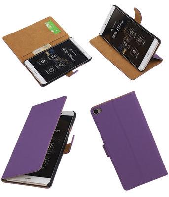 Hoesje voor Huawei P8 Max Effen Booktype Wallet Paars