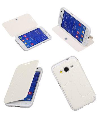 Bestcases Wit TPU Booktype Motief Hoesje voor Samsung Galaxy Grand Neo