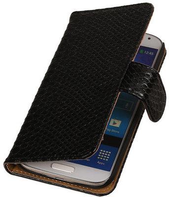 Hoesje voor Samsung Galaxy S3 Snake Slang Bookstyle Wallet Zwart