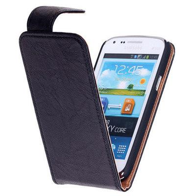 Polar Echt Lederen Hoesje voor Samsung Galaxy Express i8730 Flipcase Zwart