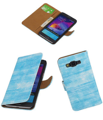 Hoesje voor Samsung Galaxy Grand Max Booktype Wallet Mini Slang Blauw