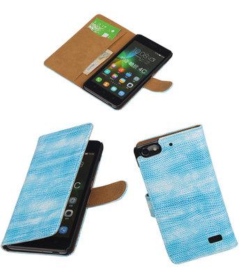 Hoesje voor Huawei Honor 4C Booktype Wallet Mini Slang Blauw