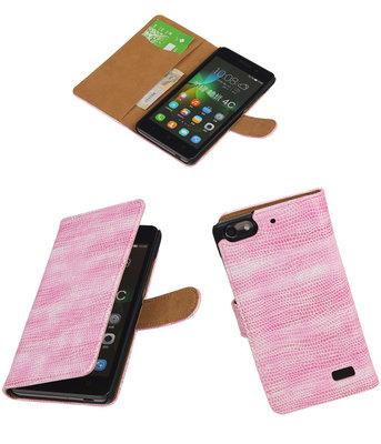 Hoesje voor Huawei Honor 4C Booktype Wallet Mini Slang Roze