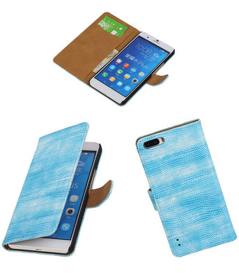 Huawei Honor 6 Plus Booktype Wallet Hoesje Mini Slang Blauw