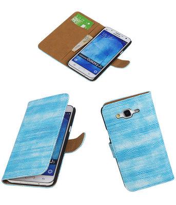 Hoesje voor Samsung Galaxy J5 2015 Booktype Wallet Mini Slang Blauw