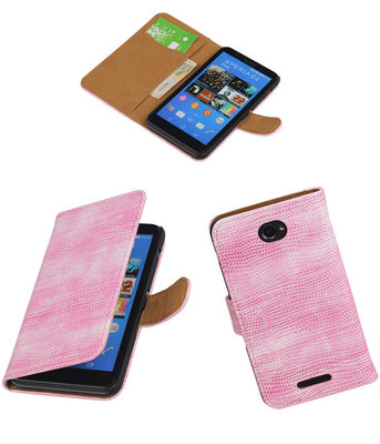 Hoesje voor Sony Xperia E4 Booktype Wallet Mini Slang Roze