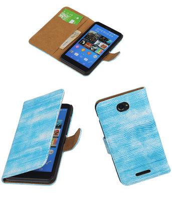 Hoesje voor Sony Xperia E4 Booktype Wallet Mini Slang Blauw