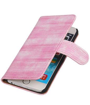 Hoesje voor Sony Xperia Z3 Compact Booktype Wallet Mini Slang Roze