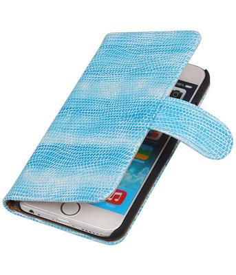 Hoesje voor Sony Xperia Z3 Compact Booktype Wallet Mini Slang Blauw