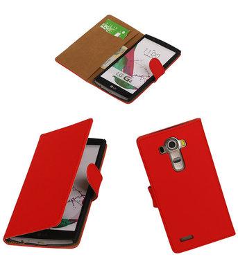 Hoesje voor LG G4 Effen Booktype Wallet Rood