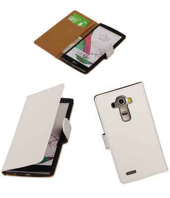 Hoesje voor LG G4 Effen Booktype Wallet Wit