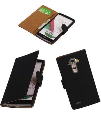 Hoesje voor LG G4 Effen Booktype Wallet Zwart