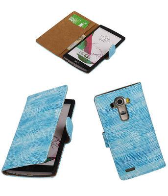 Hoesje voor LG G4 Booktype Wallet Mini Slang Blauw