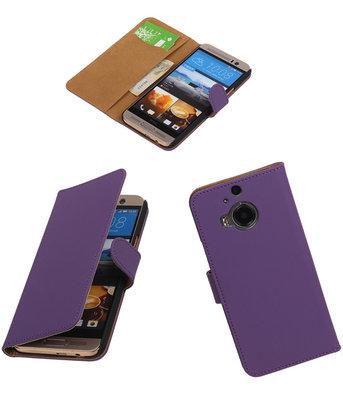 Hoesje voor HTC One M9 Plus Effen Booktype Wallet Paars