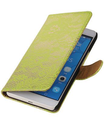 Hoesje voor LG G4c Lace Kant Bookstyle Wallet Groen