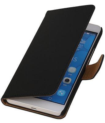 Hoesje voor LG G4c Effen Bookstyle Wallet Zwart